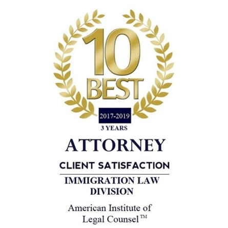 Charleston Immigration Attorney Awarded 10-Best for Client Satisfaction