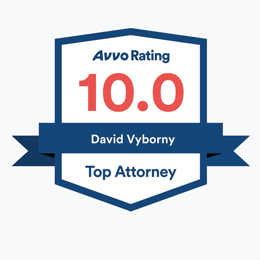 David Vyborny Avvo Rating Badge